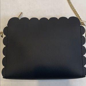 Talbots Plano Scalloped Leather Crossbody Bag